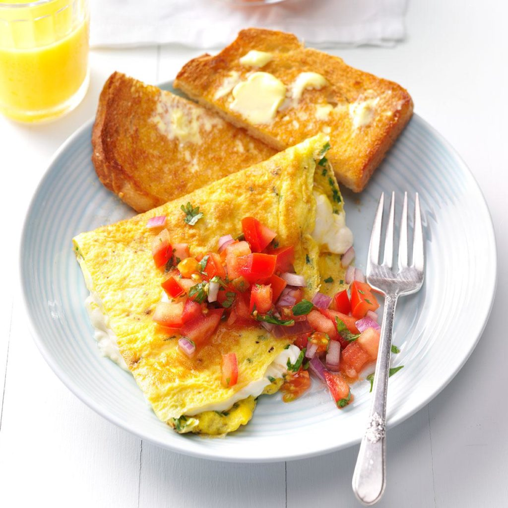 Cream Cheese and Chive Omelet Infused with Cannabidiol