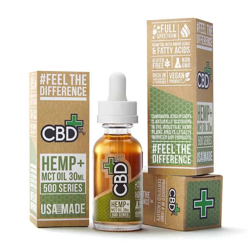 CBDFx CBD Hemp + MCT Oil Tincture