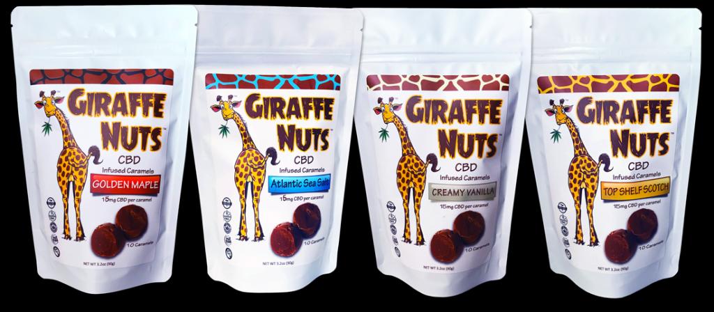 Giraffe Nuts CBD Caramels
