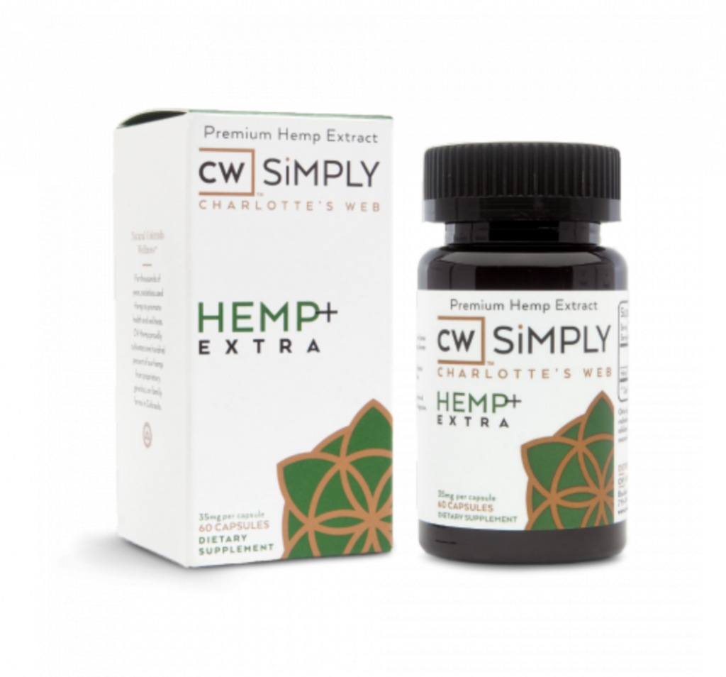 CW Hemp Simply Hemp Extra CBD Capsules