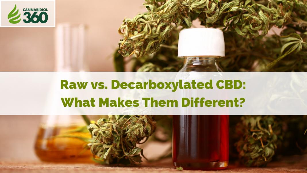 Raw VS Decarb CBD